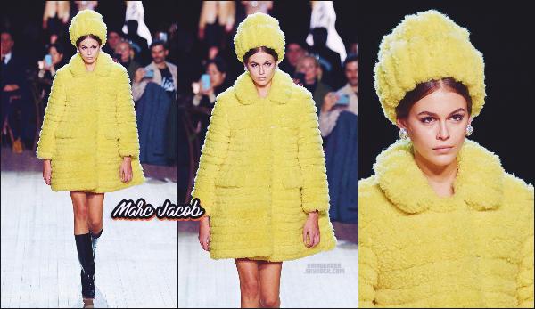 - Kaia G. défilait pour la marque Marc Jacob à la Fashion Week de New-York City. -