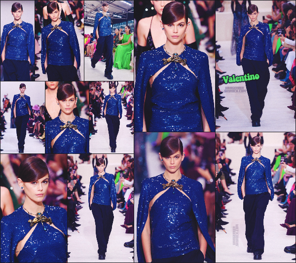 - Kaia Gerber défilait pour la célèbre marque VALENTINO à la Fashion Week de Paris. -