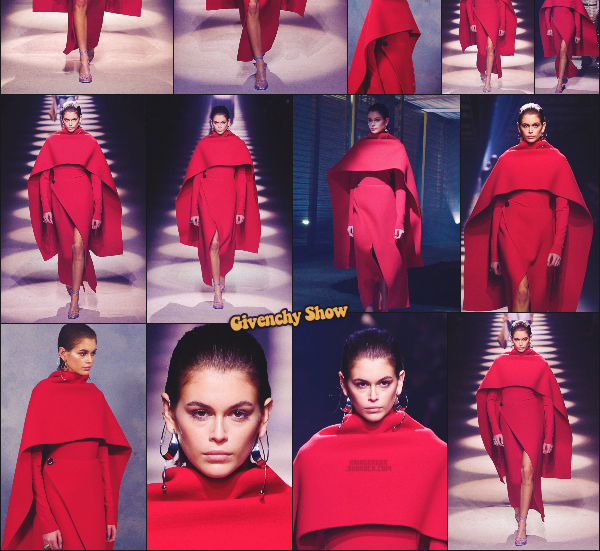 - Kaia Gerber défilait pour la marque GIVENCHY à la Fashion Week de Paris, FR. -