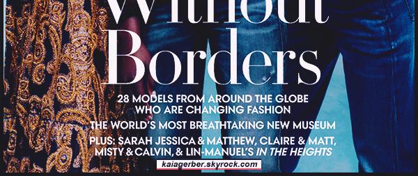 -  US Vogue April 2020 ●- Découvrez la magnifique couverture et le cliché où miss  Kaia Gerber  apparait ! -
