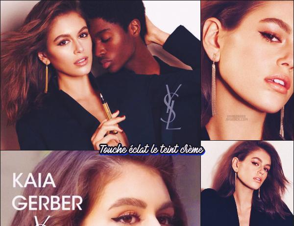 -  YVES SAINT LAURENT ●- Découvrez la campagne cosmétique 2020 dont  Kaia Gerber  est à l'affiche ! -