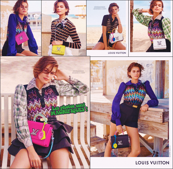 """-  LOUIS VUITTON ●- Découvrez les clichés de  Kaia Gerber  pour la campagne des """"Twist Bags"""" de LV ! -"""