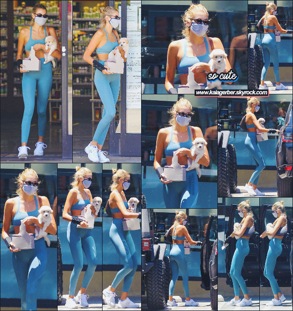 07/07/20 - C'est encore une fois à un café que Kaia G. a été aperçue après sa séance de sport !