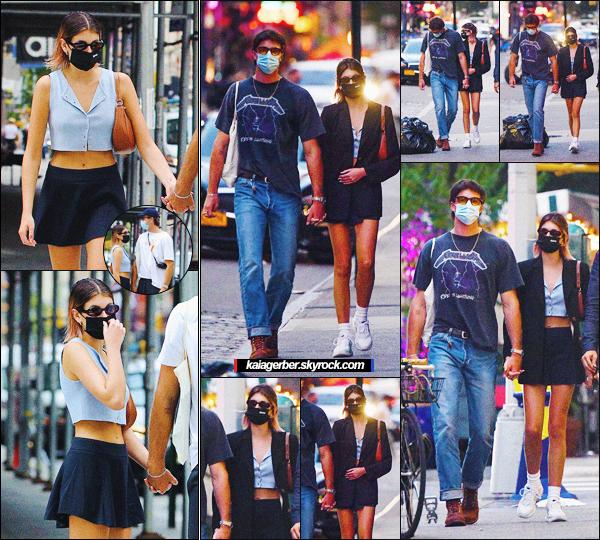 11/09/20 - Kaia Gerber a été photographiée avec Jacob Elordi dans les rues de New York City !