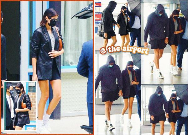 13/09/20 - K.G a été photographiée quittant son appartement avec Jacob Elordi avant d'aller à l'aéroport, New York ! C'est donc très discrète que Kaia s'est montrée brièvement aujourd'hui, toujours accompagné de J. Top pour la tenue ••
