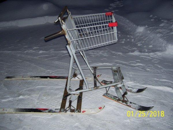 panier transporteur sur skis