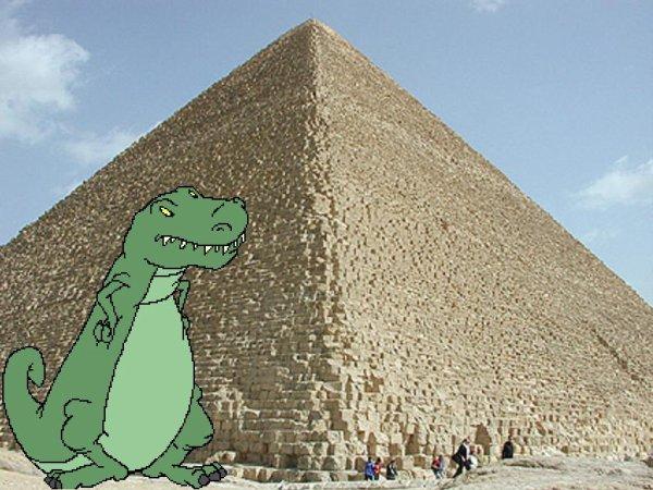 La Pyramide de Kéops,plus grande que les dinosaures?