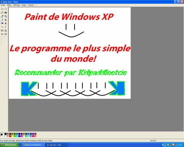 Paint  XP recommander par Kidpaddleetcie!