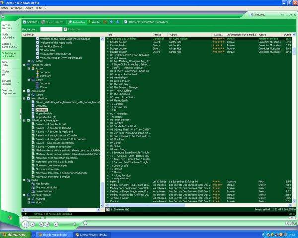Lecteur Windows Media:le meilleur répertoire musicale!