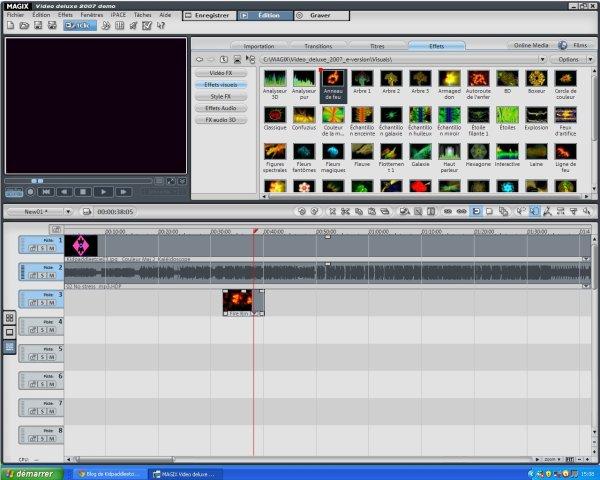 MAGIX Video Deluxe 2007 demo:la évolution de Windows Movie Maker