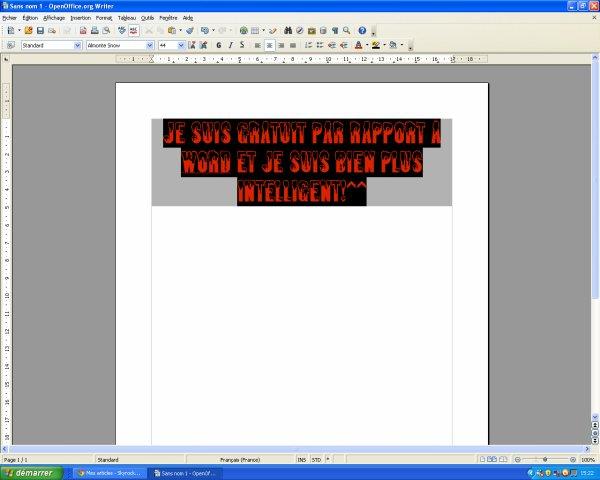 OpenOffice.org Writer : Gratuit et Hyper-utile