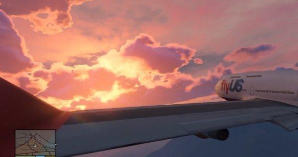 """Juste une photo de GTA V en mode """"je suis dans mon avion""""!"""