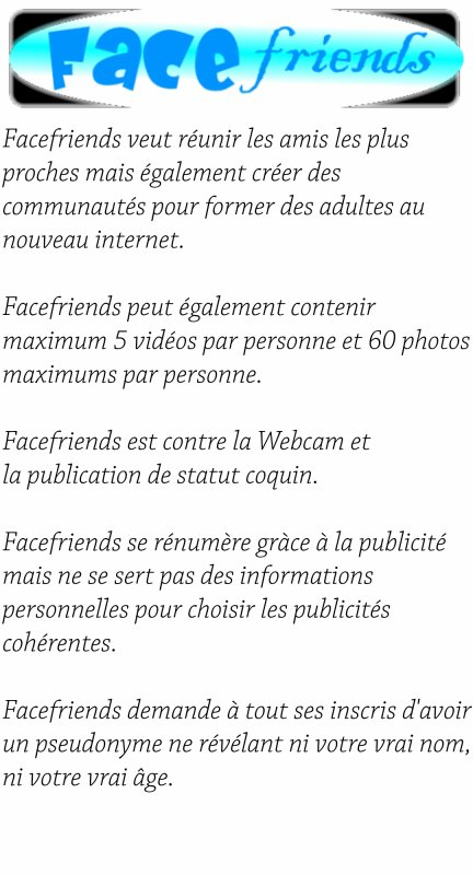 [Projet de site]Facefriends