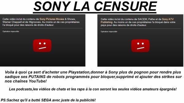 Pourquoi je n'aime pas Sony?