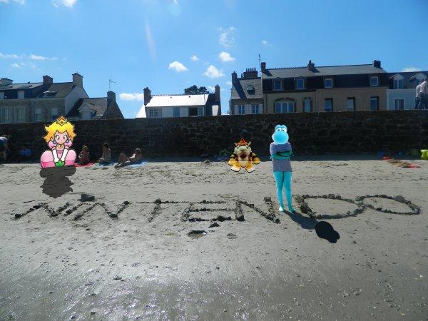 FanYoshiBleu et Kidpaddleetcie à la plage