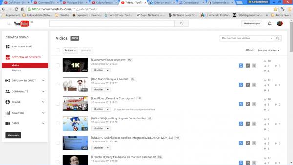 1000 vidéos sur YouTube et une re-focalisation sur Dailymotion!