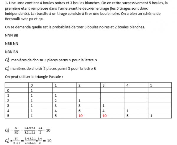 [Aide Math]La loi binomiale!