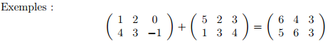 [Aide Math]L'addition et la multiplication matricienne