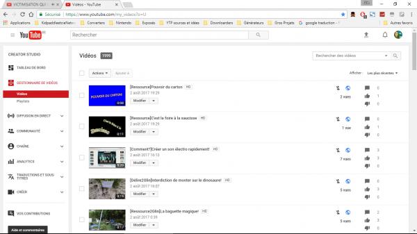 1 999 sur YouTube