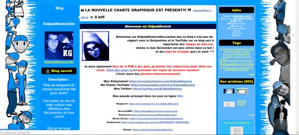 """Changement Graphique du blog """"KidpaddleetcieGlin"""" !"""