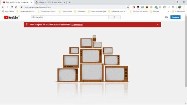 Compte YouTube désactivé de façon permanente!
