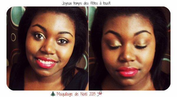 ❄Dernière série pour le temps des fêtes : Maquillage de Noël 2013!!❄