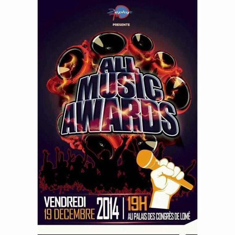 Suis nominé aux ALL MUSIC AWARDS au togo dans la catérie meilleur artiste de la diaspora
