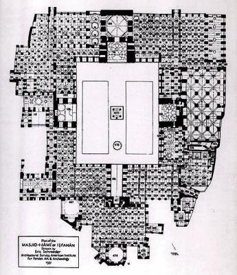 plan de la mosqu e du vendredi d 39 ispahan iran viii me xvii me si cle clich s de l 39 art de l 39 islam. Black Bedroom Furniture Sets. Home Design Ideas