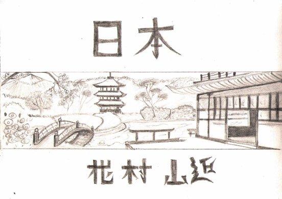 Dessin Japonais Facile dessin paysage japonais - soffco