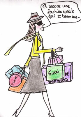dessin shopping humour