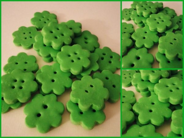 Les p'tits boutons verts !