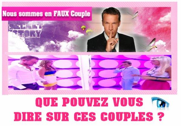 Geof &Marie et Goeffrey &Aurélie ont pour secret d'être en couple, mais cela prend une tournure peu particulière ...