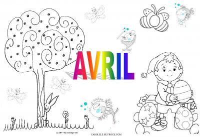 Avril activites manuelles pour petits et grands - Coloriage mois d avril ...