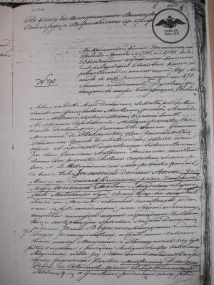 Testament Macieja Pienkowskiego 1724