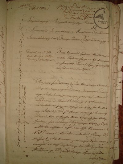 Prosba Pawla Sebastiana Pieńkowskiego do cara o wpisanie do Szlachty 1829