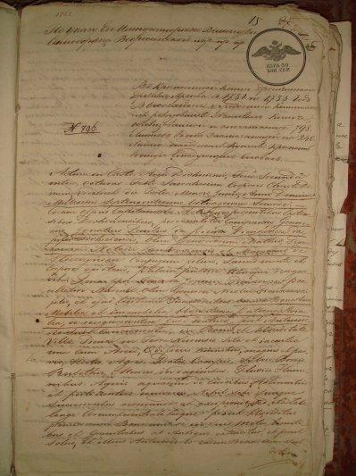Darownizna Pieniek przez Ignacego Pawla Pieńkowskiego Janowi syna Macieja Pieńkowskiego 1782