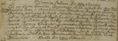 Chrzest Stefana Leonarda Antoniego Pienkowskiego - Biala 1779 rok