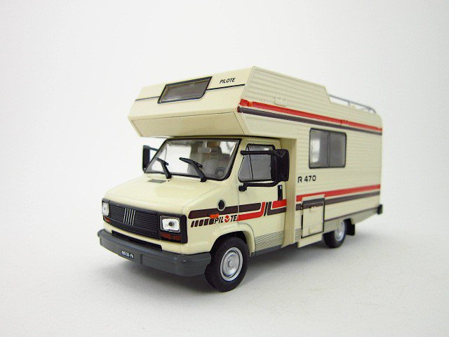 1 42 fiat ducato camping car r470 pilote 1984 diecast model cars. Black Bedroom Furniture Sets. Home Design Ideas