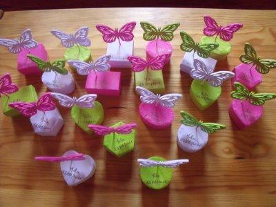 papillons sur boites