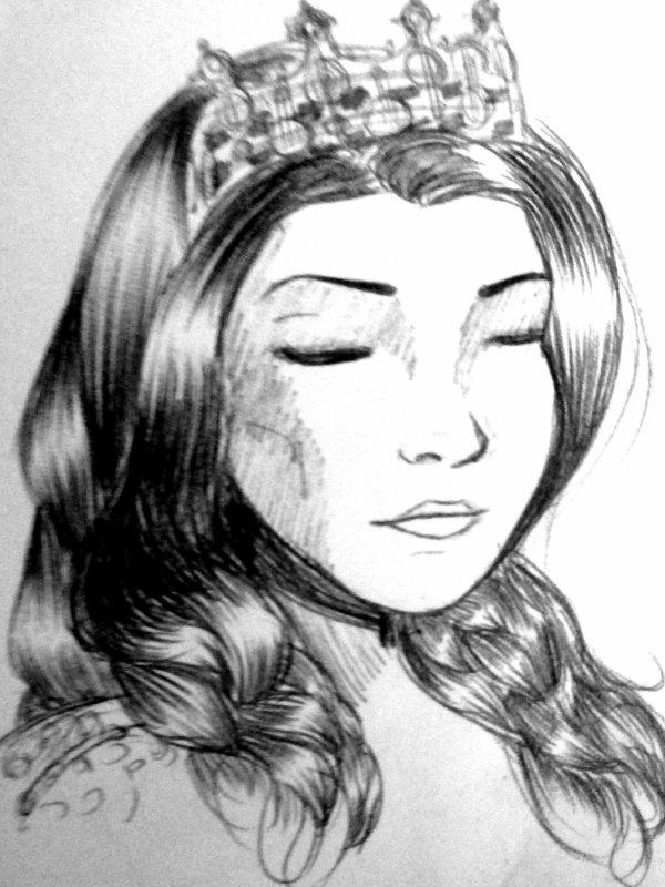 Croquis de la semaine - Elsa Boleyn DeLarge