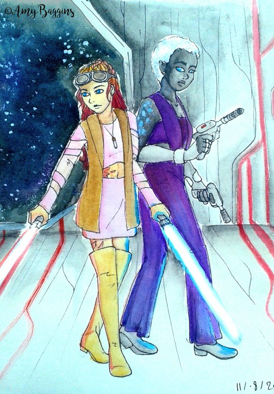 I can't even marry you without getting in trouble - Star Wars OC: Amandra Ventress & Skyehali Colsto