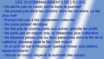 les 10 commandements des cours
