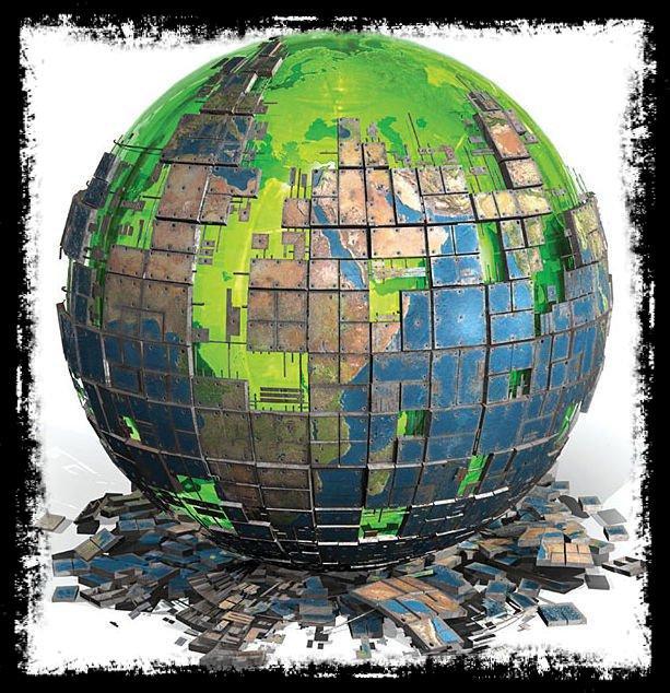 le monde part en morceaux ......qui viendra pour recollé...et pensé ses plaies....