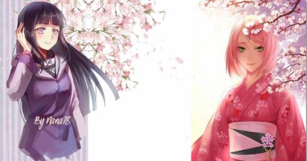 Habillage n°1 Sakura/ Hinata Naruto