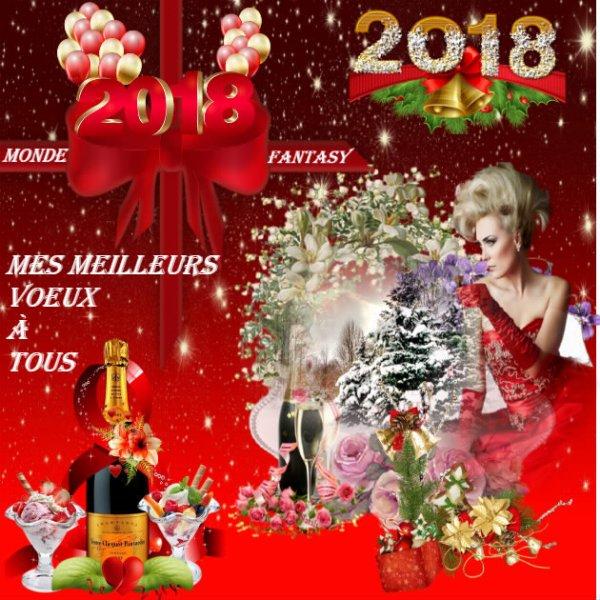 Mes meilleurs voeux 2018 à Tous !