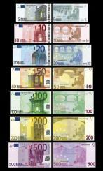 L'Euro le 1er janvier 2002 (billets)