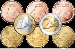 L'Euro le 1er janvier 2002 (pièces)