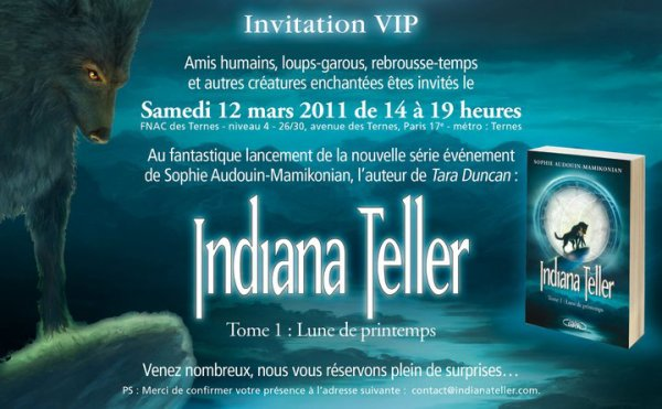 Invitation pour THE évènement Indiana Teller!