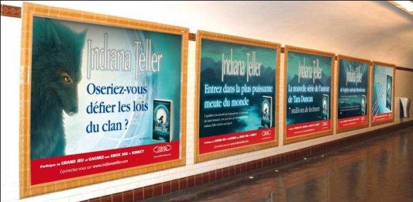 Indiana s'affiche dans le métro parisien!