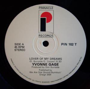 Yvonne Gage - Lover Of My Dreams